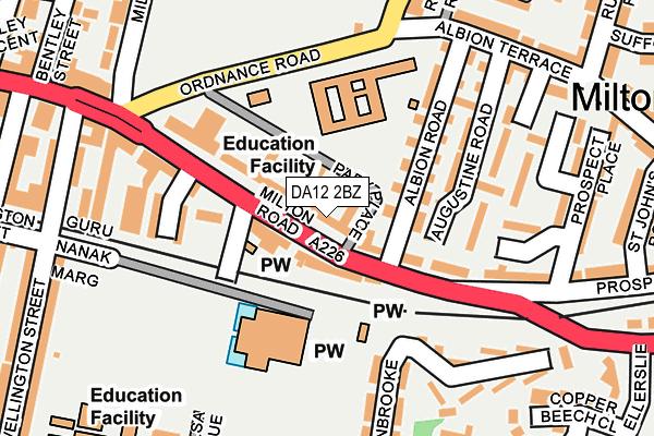 DA12 2BZ map - OS OpenMap – Local (Ordnance Survey)