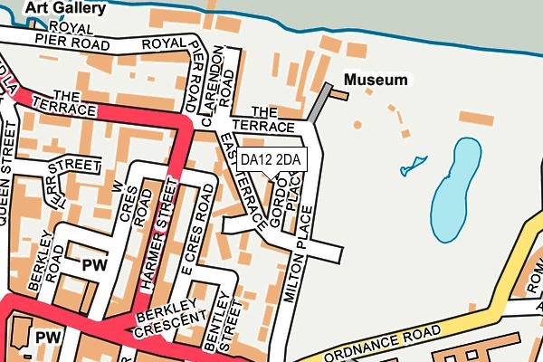 DA12 2DA map - OS OpenMap – Local (Ordnance Survey)