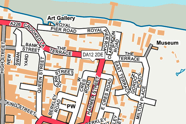 DA12 2DE map - OS OpenMap – Local (Ordnance Survey)