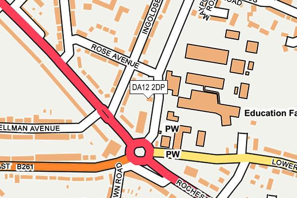 DA12 2DP map - OS OpenMap – Local (Ordnance Survey)