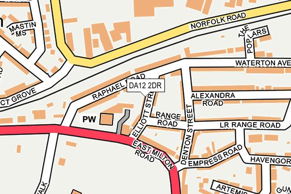 DA12 2DR map - OS OpenMap – Local (Ordnance Survey)
