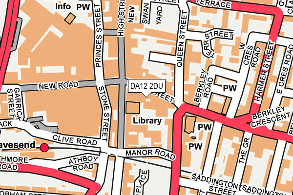 DA12 2DU map - OS OpenMap – Local (Ordnance Survey)