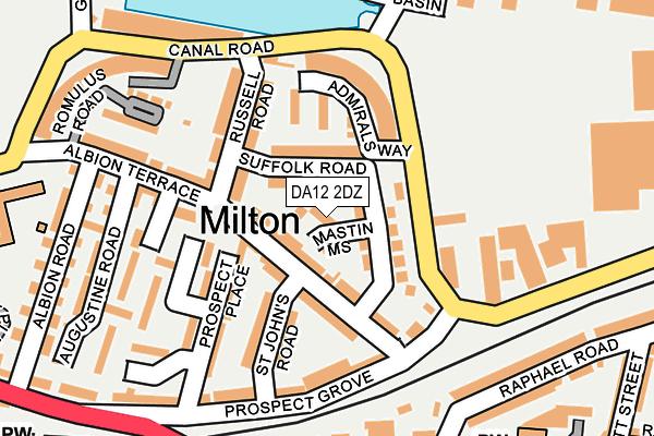 DA12 2DZ map - OS OpenMap – Local (Ordnance Survey)