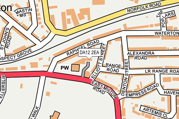 DA12 2EA map - OS OpenMap – Local (Ordnance Survey)