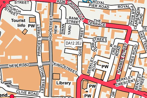 DA12 2EJ map - OS OpenMap – Local (Ordnance Survey)
