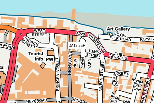 DA12 2EP map - OS OpenMap – Local (Ordnance Survey)