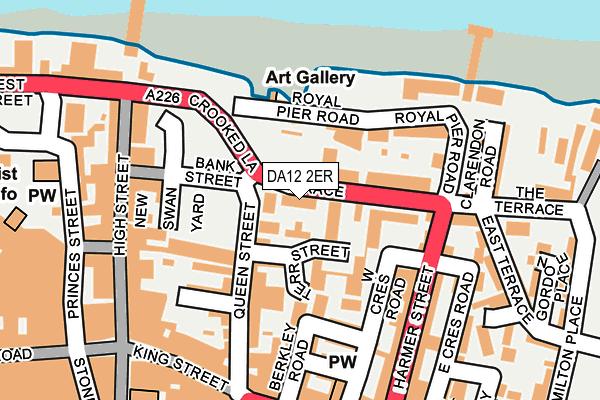 DA12 2ER map - OS OpenMap – Local (Ordnance Survey)