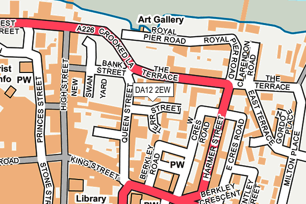 DA12 2EW map - OS OpenMap – Local (Ordnance Survey)