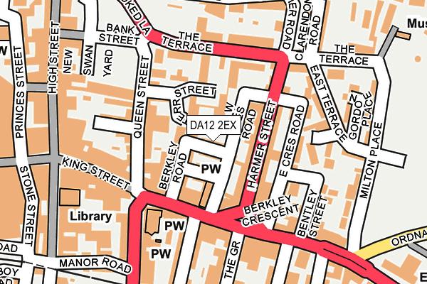 DA12 2EX map - OS OpenMap – Local (Ordnance Survey)