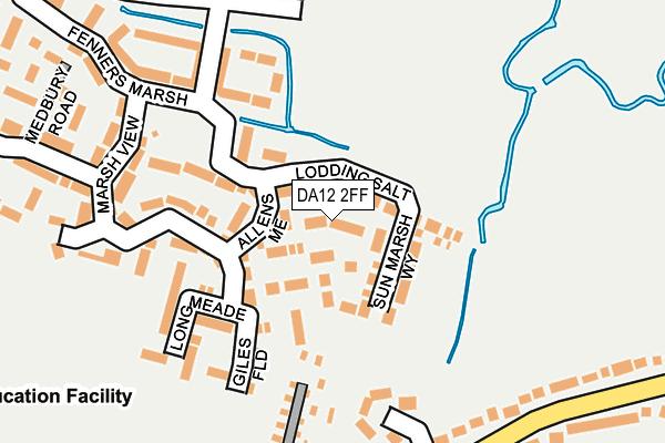 DA12 2FF map - OS OpenMap – Local (Ordnance Survey)