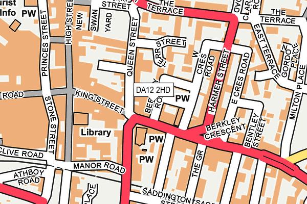 DA12 2HD map - OS OpenMap – Local (Ordnance Survey)