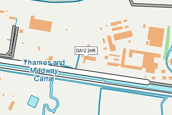 DA12 2HR map - OS OpenMap – Local (Ordnance Survey)