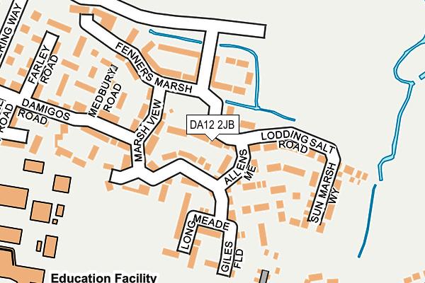 DA12 2JB map - OS OpenMap – Local (Ordnance Survey)