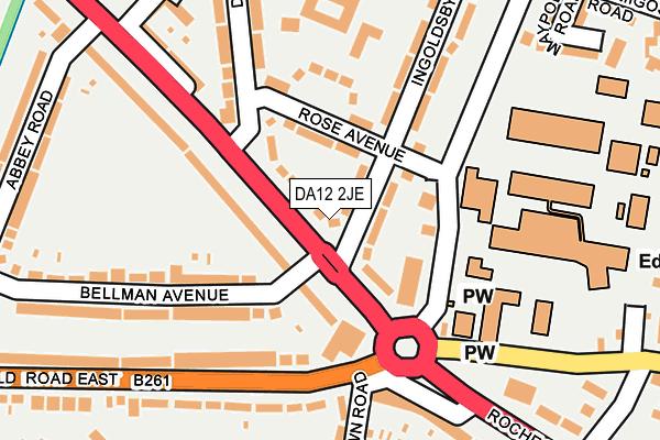 DA12 2JE map - OS OpenMap – Local (Ordnance Survey)