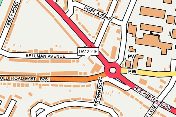 DA12 2JF map - OS OpenMap – Local (Ordnance Survey)