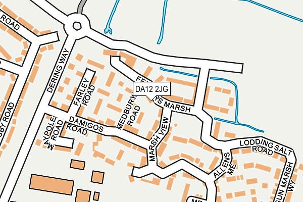 DA12 2JG map - OS OpenMap – Local (Ordnance Survey)