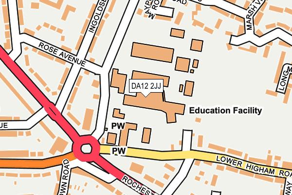 DA12 2JJ map - OS OpenMap – Local (Ordnance Survey)