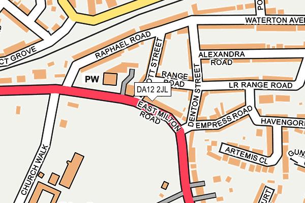 DA12 2JL map - OS OpenMap – Local (Ordnance Survey)