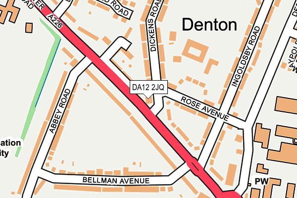 DA12 2JQ map - OS OpenMap – Local (Ordnance Survey)