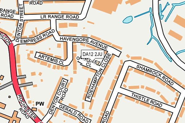 DA12 2JU map - OS OpenMap – Local (Ordnance Survey)