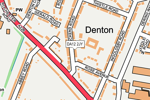 DA12 2JY map - OS OpenMap – Local (Ordnance Survey)