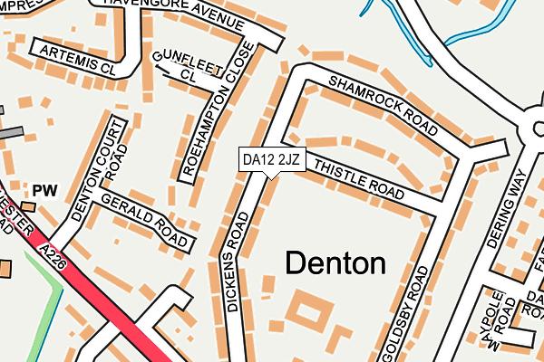 DA12 2JZ map - OS OpenMap – Local (Ordnance Survey)