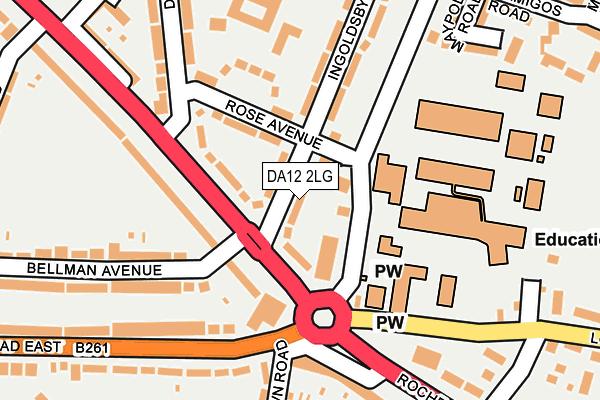 DA12 2LG map - OS OpenMap – Local (Ordnance Survey)