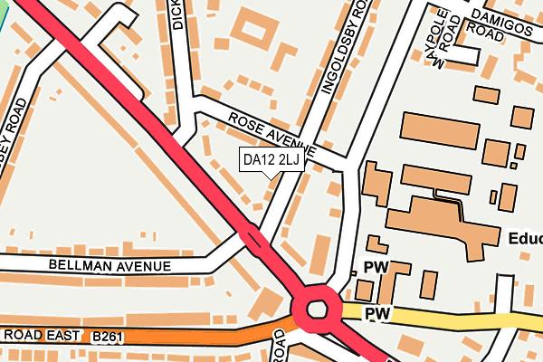 DA12 2LJ map - OS OpenMap – Local (Ordnance Survey)