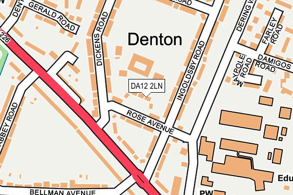 DA12 2LN map - OS OpenMap – Local (Ordnance Survey)