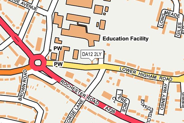 DA12 2LY map - OS OpenMap – Local (Ordnance Survey)