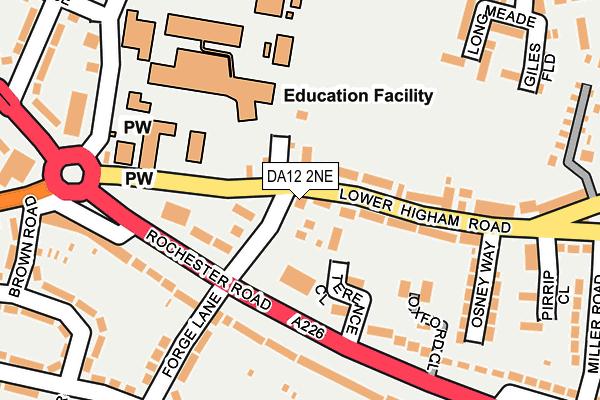 DA12 2NE map - OS OpenMap – Local (Ordnance Survey)