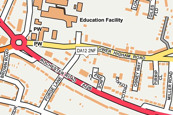 DA12 2NF map - OS OpenMap – Local (Ordnance Survey)