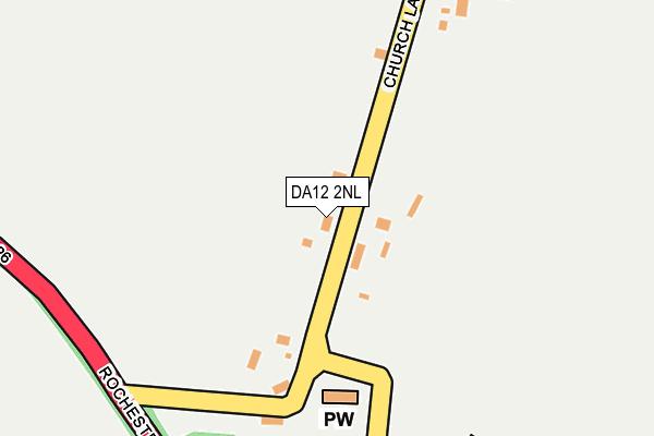 DA12 2NL map - OS OpenMap – Local (Ordnance Survey)