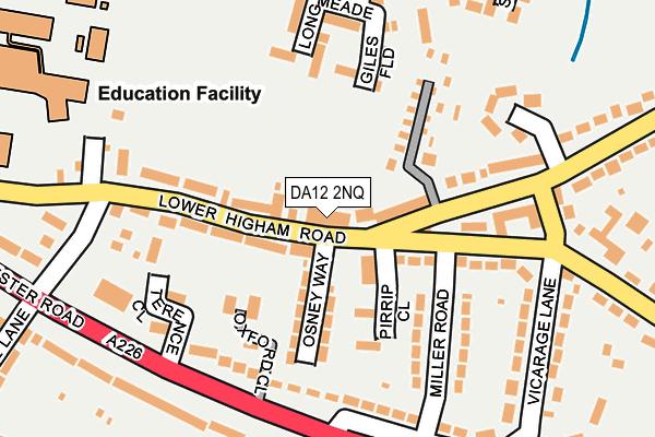 DA12 2NQ map - OS OpenMap – Local (Ordnance Survey)