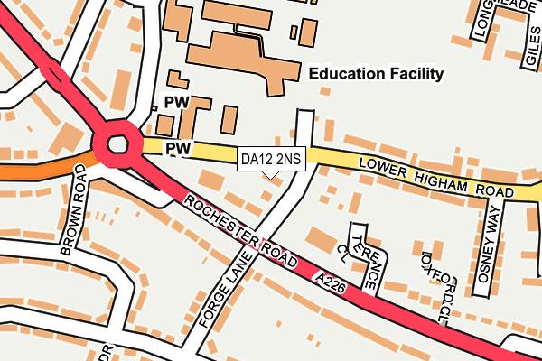 DA12 2NS map - OS OpenMap – Local (Ordnance Survey)