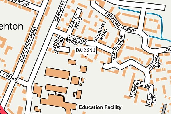 DA12 2NU map - OS OpenMap – Local (Ordnance Survey)