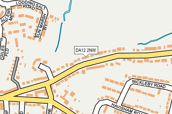 DA12 2NW map - OS OpenMap – Local (Ordnance Survey)