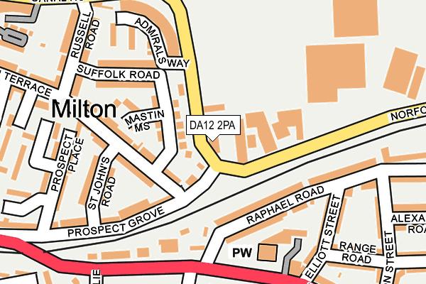 DA12 2PA map - OS OpenMap – Local (Ordnance Survey)