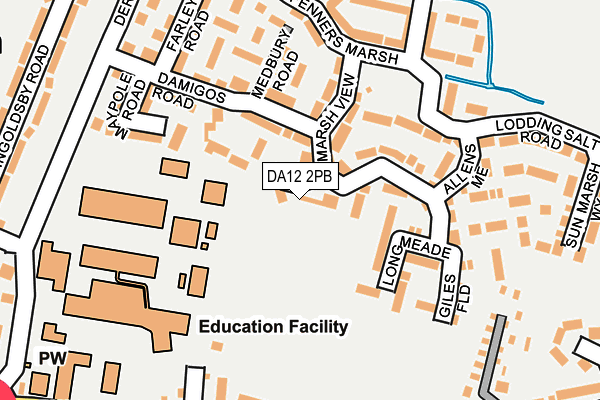 DA12 2PB map - OS OpenMap – Local (Ordnance Survey)