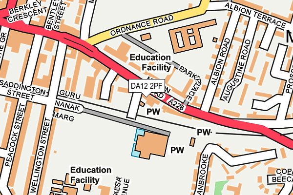 DA12 2PF map - OS OpenMap – Local (Ordnance Survey)