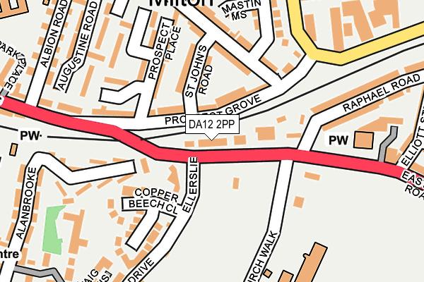 DA12 2PP map - OS OpenMap – Local (Ordnance Survey)