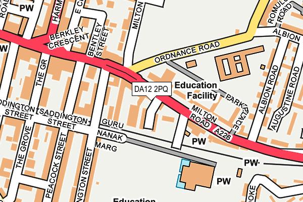 DA12 2PQ map - OS OpenMap – Local (Ordnance Survey)