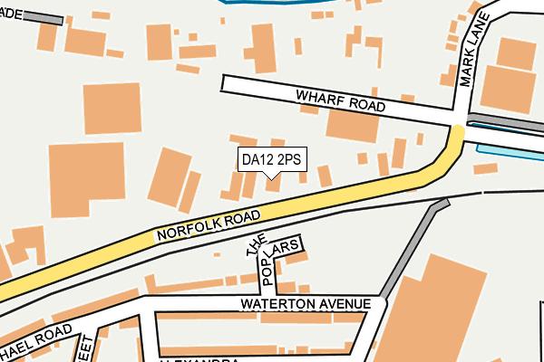 DA12 2PS map - OS OpenMap – Local (Ordnance Survey)