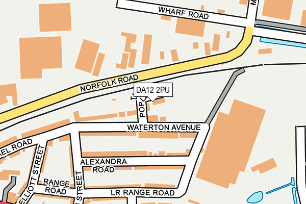DA12 2PU map - OS OpenMap – Local (Ordnance Survey)