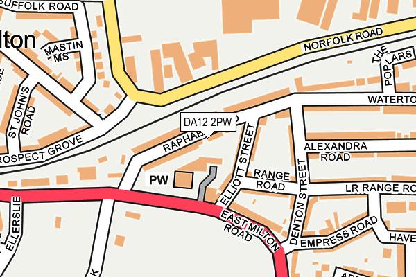 DA12 2PW map - OS OpenMap – Local (Ordnance Survey)