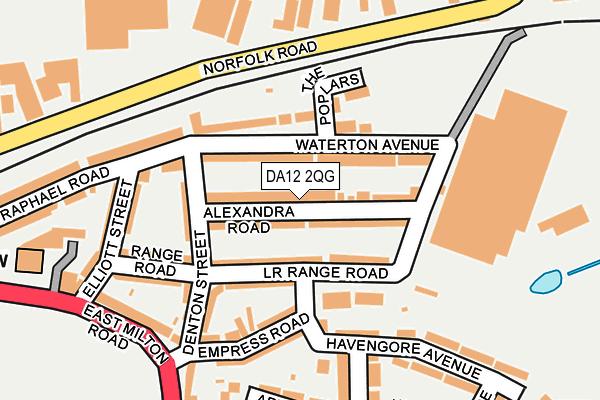DA12 2QG map - OS OpenMap – Local (Ordnance Survey)
