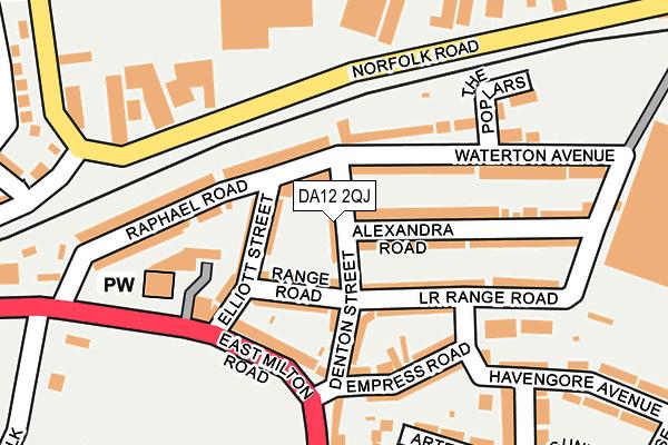 DA12 2QJ map - OS OpenMap – Local (Ordnance Survey)