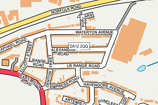 DA12 2QQ map - OS OpenMap – Local (Ordnance Survey)