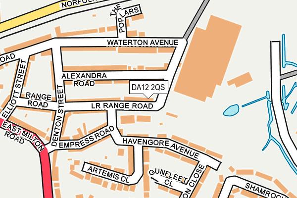 DA12 2QS map - OS OpenMap – Local (Ordnance Survey)