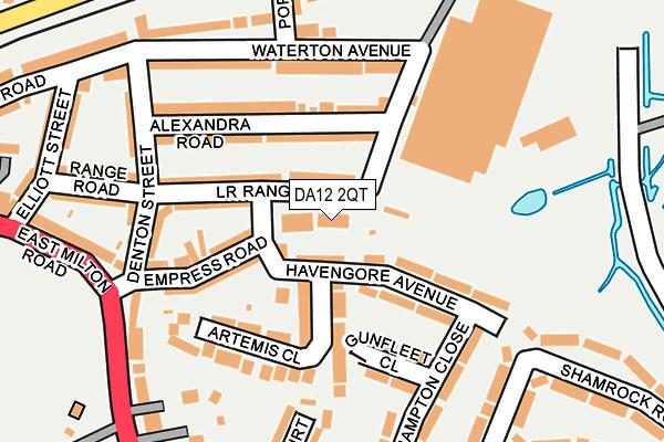 DA12 2QT map - OS OpenMap – Local (Ordnance Survey)